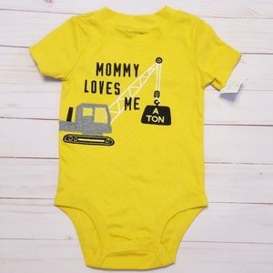 Carter's mustard bodysuit Mommy loves me a ton